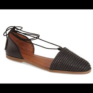 Lucky Brand | Black Leather Flats | Size 8.5